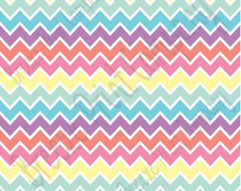 Multi color spring chevron craft  vinyl sheet - HTV or Adhesive Vinyl -  zig zag pattern Easter HTV193