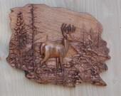 Deer Wood Wall Art, Wood ...