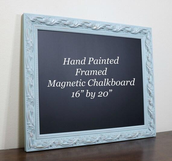 Items Similar To Decorative Chalkboard Magnetic Framed