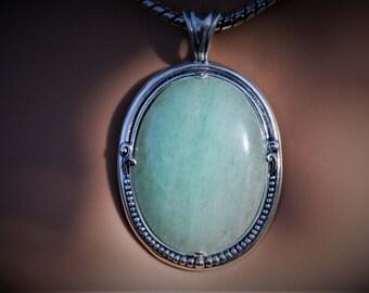 Light green Aventurine Pendant Aventurine Gemstone necklace Gemstone jewelry