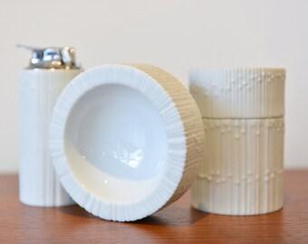 White Porcelain Smoking Set by Tapio Wirkkala for Rosenthal Studio