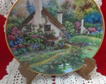 Vintage Collectible Plate A Cozy Glen By Violet Schwenig Collectors Plate Franklin Mint Porcelain Vintage Plate Collectible Plate Shop