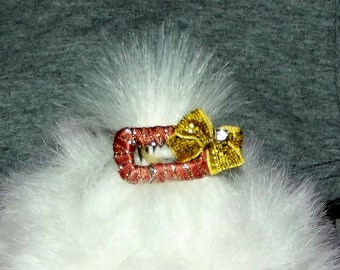 """NEW!! NEW!! Puppy Bows ~ wrapped comb snaps 1"""" hair bow for dogs topknot barrettes"""