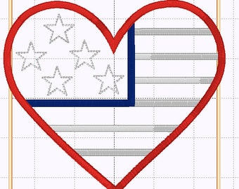 SAMPLE SALE!!!  Patriotic Heart 4th of July shirt or baby bodysuit