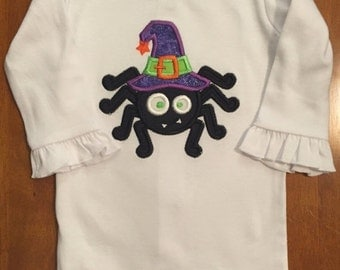 Ready to ship!!!  Halloween Witch Spider Baby Bodysuit