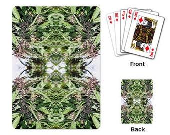 Playing Cards: Marijuana Themed Playing Cards Williams Wonder Marijuana Print, Cannabis Cards, Marijuana Cards - Made to Order