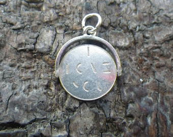 Sterling Silver Spining I Love You  Charm Pendant