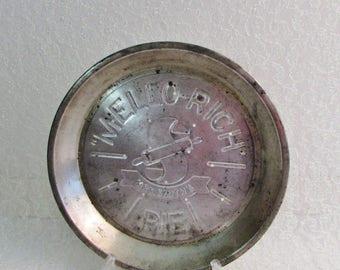 Vintage Pie Pan Mrs. Smith's Mellow Rich PIE, Antique Metal Pie Pan by Mellow Rich circa 1930