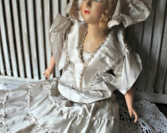 Vintage! Boudoir doll. Early 1900's.