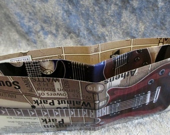SALE Schecter Guitars Wallet DIY Upcycled Catalogue #4