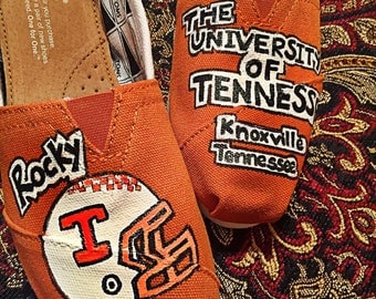 Custom designed and painted University of TennesseeToms! Designed and personalized just for you