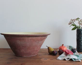 Vintage Very Large Rustic Mixing Bowl