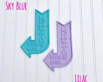 Mermaid Sign - Mermaid Decor - Bathroom Decor - Bedroom Decor - Beach Decor - Coastal Decor
