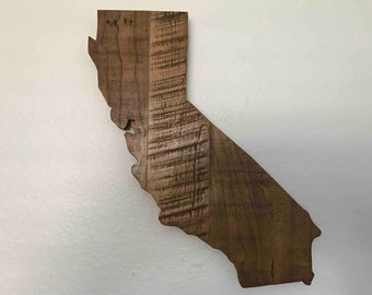 California State - Hardwood Sign - Made out of Reclaimed Hardwood