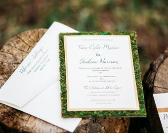 Moss Wedding Invitation