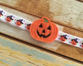 Halloween Headband - Jack O Lantern Headband for Girls - Pumpkin  Headband - Black and Orange Headband - Baby Halloween Headband