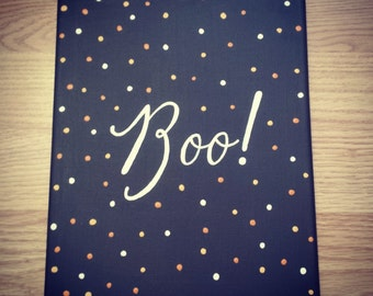 Canvas Painting - Boo!