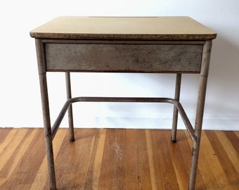 Mid Century School Desk