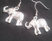 Elephant Earrings, Elephant Jewelry, Asian Elephant Earrings, Animal Jewelry
