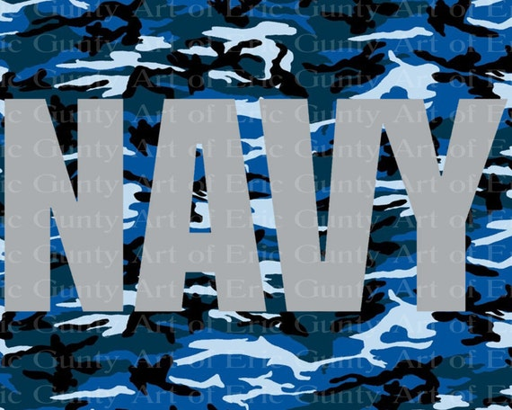 Navy Camo Military Birthday - Edible Cake and Cupcake Topper For Birthday's and Parties! - D21923