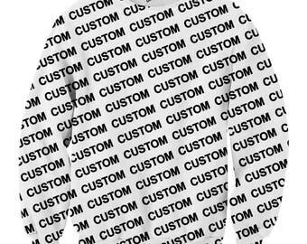 Custom Crewneck Sweater, Custom all over print crewneck sweater, Custom full print sweater