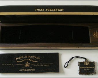 Jules Jurgensen Watch Box - Vintage Presentation Case - Box Only - Empty - Original Tags and Packaging