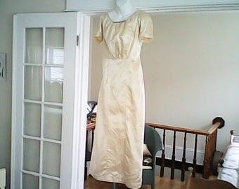 1890s  SHABBY SPLENDOR GOWN Long Yellow Dress Heirloom