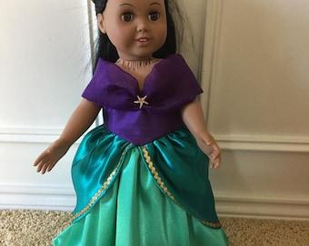 Ariel dress for 18 inch doll