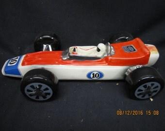 Ezra Brooks 1970 #10 Race Car Decanter