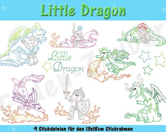 Little dragon for the 13x18cm frame