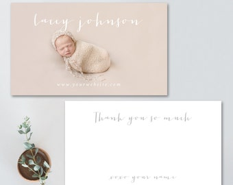 Photography thank you card, photoshop template, thank you note, portrait photography template, THANK YOU CARD card 4844