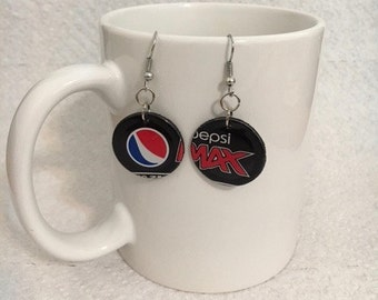 Pepsi Max Soda Can Earrings