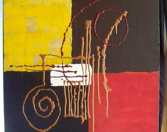 24x30 acrylic abstract original artwork