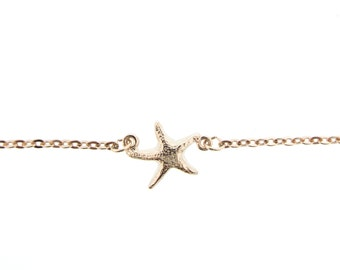 Rose Gold Starfish Anklet