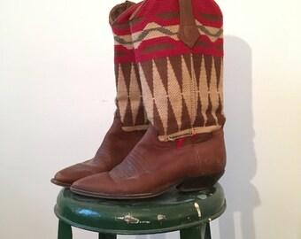 Vintage Southwestern Cowboy Boots - Women's Size 6 Approx