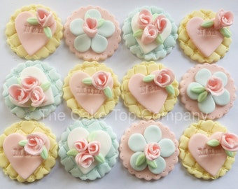 Mothers Day Cupcake Toppers are handmade in the Uk