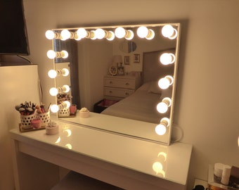 Ikea malm etsy for Miroir hollywood ikea