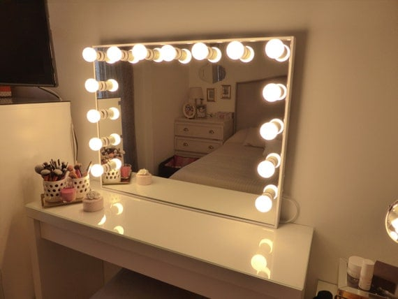 deluxe vanity mirror extra large hollywood by crafterscalendar
