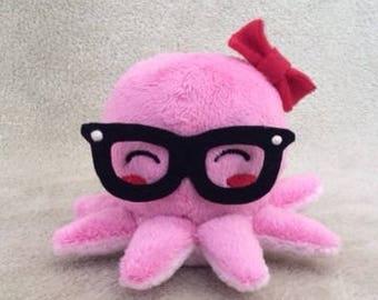 Geeky Pink Octopus Plushie