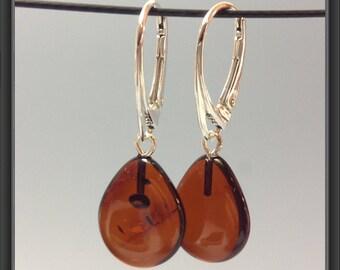 Amber earrings (Baltic Amber)