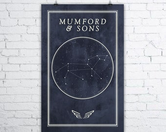 Mumford & Sons Constellation Poster