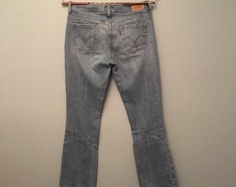 "Levi Strauss Jeans Denim Blue Jeans 515 Red Tag Boot Cut 28"" Waist"