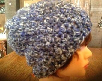 CLEARANCE Women's crochet slouchy beanie, men's beanie, unisex beanie, Teen Girls crochet Slouchy beanie, winter beanie, ski beanie
