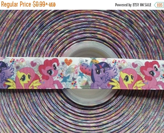 """SUPER SALE MY Little Pony Inspired 7/8"""" 22mm Grosgrain Hair Bow Craft Ribbon 782477"""