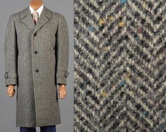 Herringbone Tweed Overcoat 1970s Tweed Coat 70s Winter Coat 1970s Herringbone Coat Fleck Tweed Car Coat Overcoat Herringbone Fleck Tweed 70s