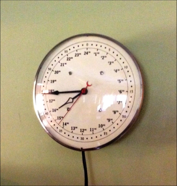 24 Hour Military Time Clock Electric American Time Company