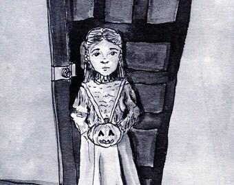Ozma and Jack - 4x6 Original Ink Painting