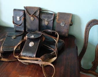 Antique and vintage leather camera cases