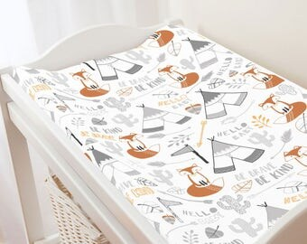 Carousel Designs Brave Fox Changing Pad Cover