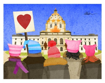 Women's March on St. Paul Minnesota 11x14 Print